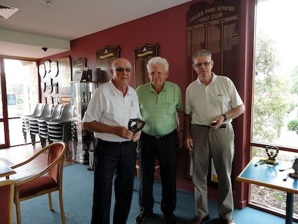 picture of WA Open 2013 Overall winner John White, David Blyth and caddie Ross Thompson